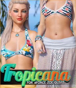 Tropicana for dForce Zoe Outfit G8F