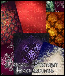 Damask Portrait Backgrounds