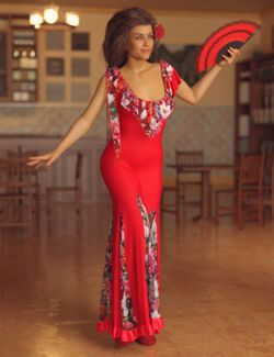 dForce Flamenco Outfit for Genesis 8 Female(s)