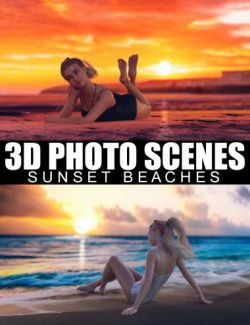 3D Photo Scenes- Sunset Beaches
