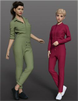 dForce H&C Coverall jumpsuit outfits for Genesis 8 Female(s)