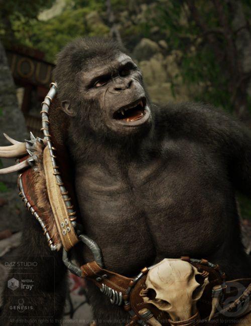 Ape World Gorilla for Genesis 8 Male