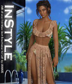 InStyle- JMR dForce Frill Maxi Skirt Beachwear for G8F