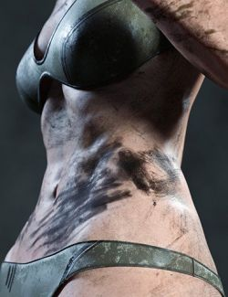 Skin Effects: Dirt elements for Genesis 3 and 8 Females