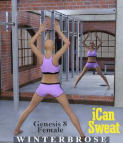 iCan SWEAT Poses for Genesis 8 Female (G8F) in Daz Studio