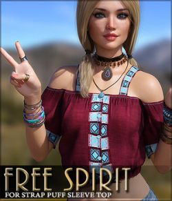 Free Spirit for Strap Puff Sleeve Top