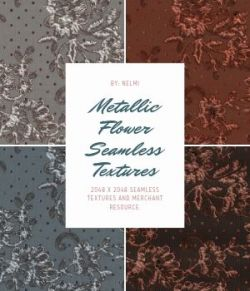 20 Metallic Flower Fabric Textures- Merchant Resource