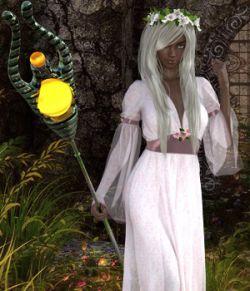 Moonlights Magic Staff and Poses G8F
