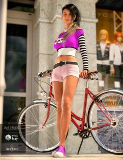 Comfy Shorts Set for Genesis 8 Female
