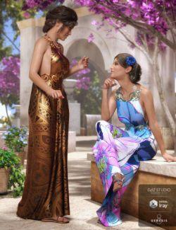 dForce Goddess of Grandeur Outfit Textures