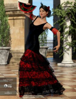 dForce Flamenco Dancer Outfit for Genesis 8 Female(s)