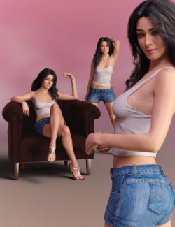 Delight Poses for Gabriela 8 and Genesis 8 Female
