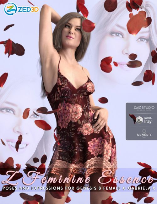 Z Feminine Essence Poses and Expressions for Genesis 8 Female and Gabriela 8
