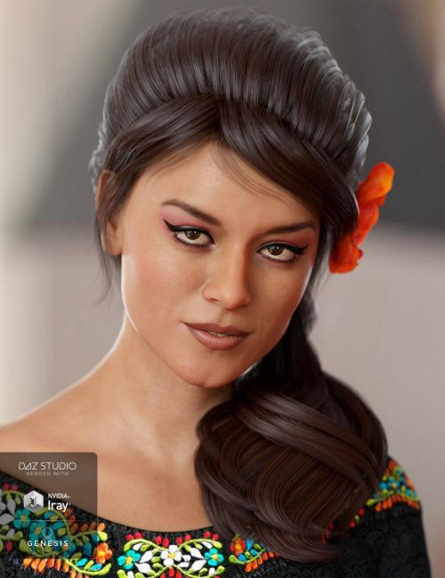 Isidora Hair for Genesis 8 and Genesis 3 Female(s)