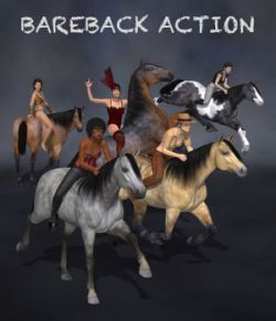 Bareback Action for G8F & DAZ Horse 2