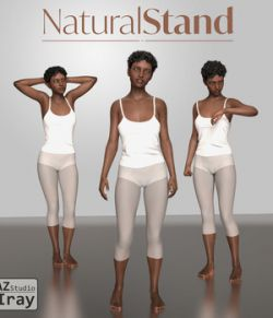 Natural Stand - Motion Capture Poses for Genesis 8 Female