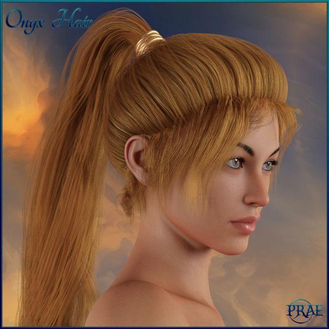 Prae-Onyx Hair G3/G8 Daz