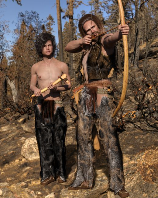 dForce Neolithic Outfits for Genesis 8 Male