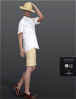 dForce H&C Summer Casual Outfits for Genesis 8 Male(s)