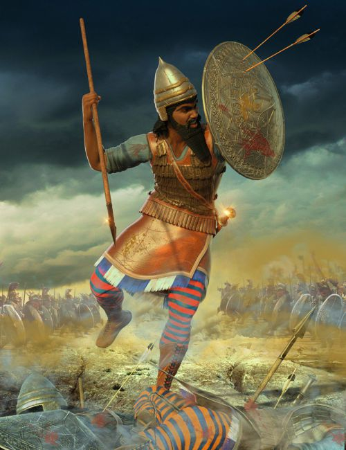 Assyrian Warrior Outfit for Genesis 8 Male(s)
