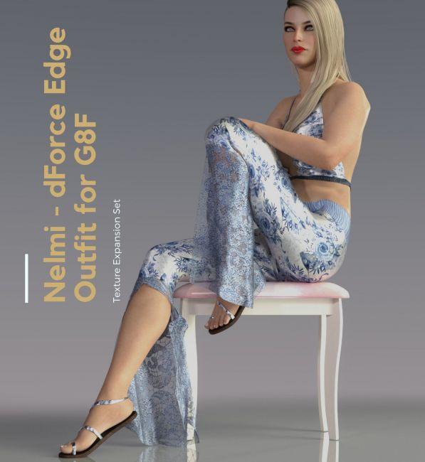 NELMI- Dforce Edge Outfit Genesis 8 Females