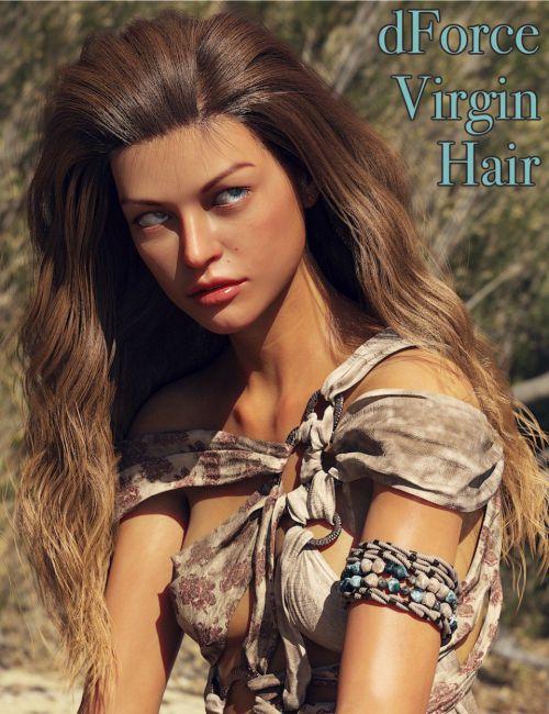 dForce Virgin Hair for Genesis 8 Female(s)
