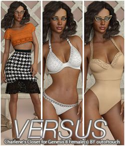 VERSUS- Charlene's Closet for Genesis 8 Female