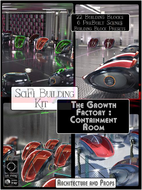 Sci Fi Building Kit - The Growth Factory: Containment Room