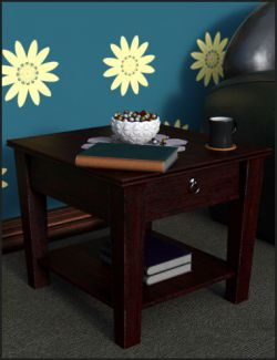 Decorative Side Table and Props
