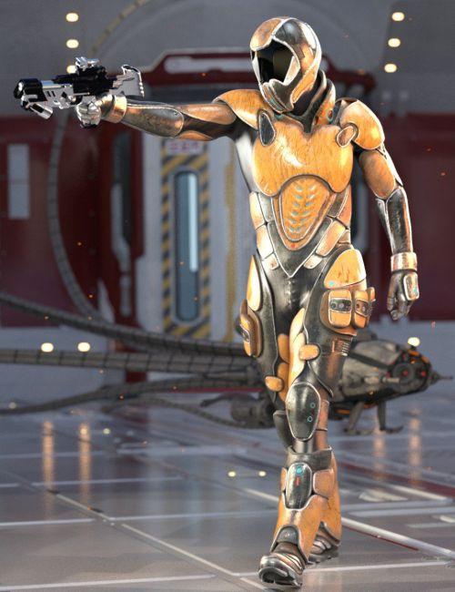 Sci-Fi Assault Armor for Genesis 8 Male(s)