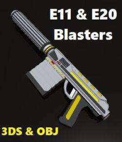 E11 & E20 Blaster Pistols