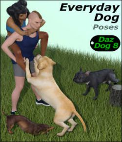 EVERYDAY DOG Poses for Daz Dog 8 in Daz Studio