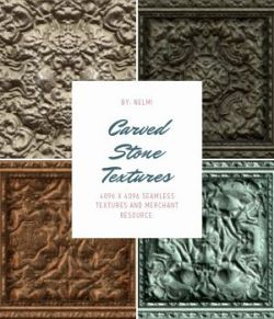 10 Carved Stone Textures- Merchant Resource