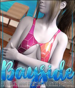 Bayside for Japanese Swimsuit for Genesis 8 Females