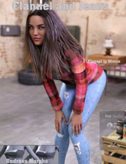 FGF Flannel and Jeans Outfit for Genesis 8 Female(s)