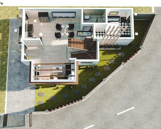 Corner Lot House