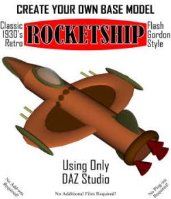Create Your Own Retro ROCKETSHIP in Daz Studio
