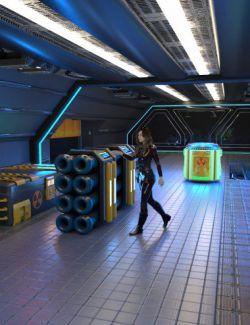 Sci-Fi Starship Cargo Hold Volume 1