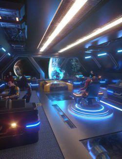 Sci-Fi Starship Bridge Volume 1