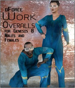 dForce Work Overalls for Genesis 8 Males and Females