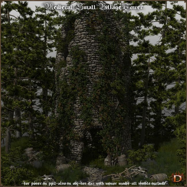 Medieval Small Village Tower