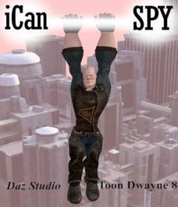 iCan SPY Poses for Toon Dwayne 8 in Daz Studio