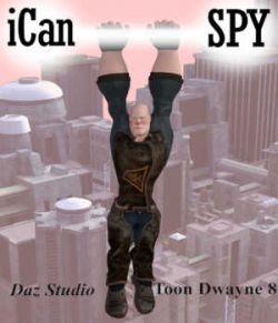 iCan SPY Poses for Toon Dwayne 8 in Daz Studio