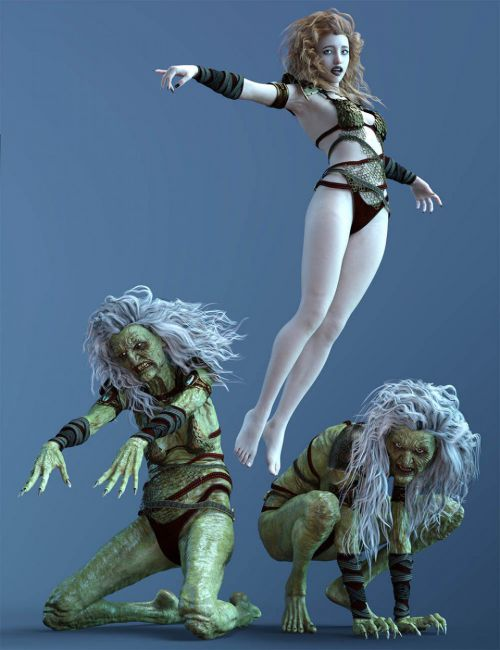 CDI Witch Poses for Hagred HD and Genesis 8 Female