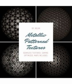 12 Metallic Patterned Textures- Merchant Resource