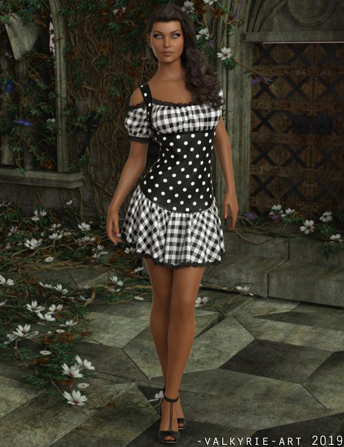 InStyle - dForce - Rosy Dress for G8F
