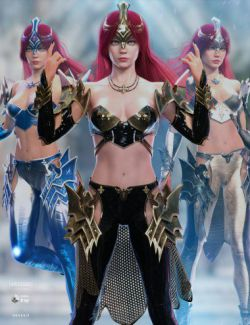 dForce Knight Priestess Outfit Iray Texture Set
