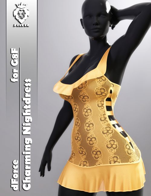 JMR dForce Charming Nightdress for G8F