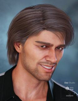 Jaggar Hair for Genesis 8 and Genesis 3 Male(s)