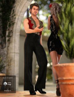 dForce Latin Dancer Outfit for Genesis 8 Male(s)